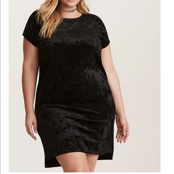 black velvet t shirt dress